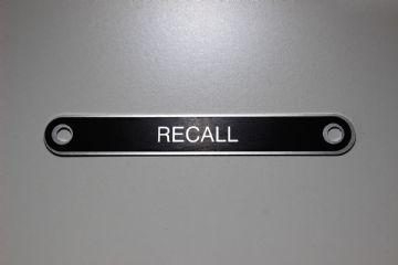 GPO 300 Series Telephone 'Recall' Aluminium Label